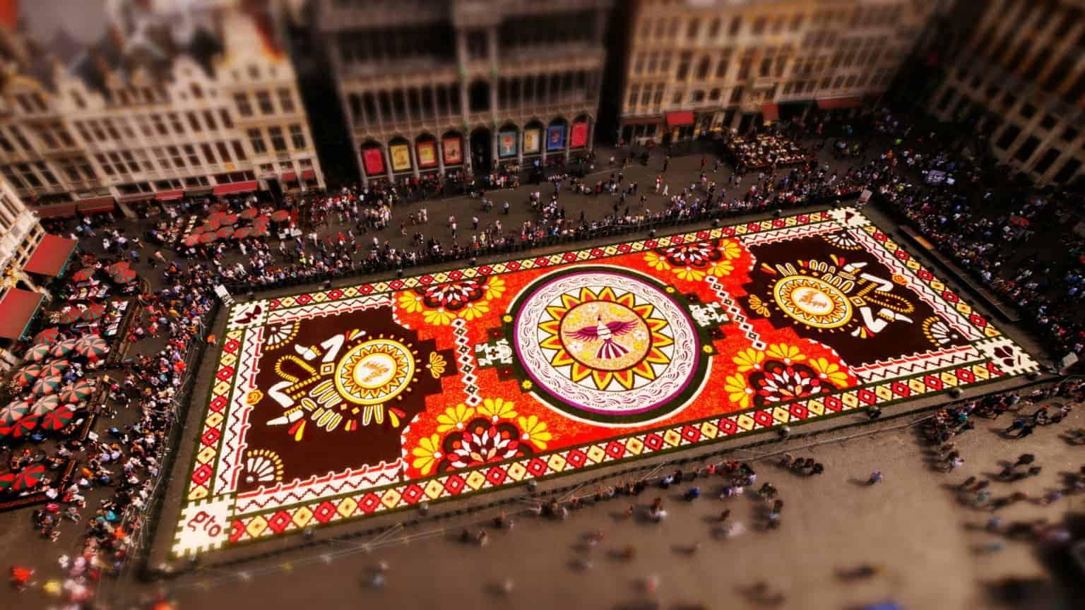 Bloementapijt Grote Markt Brussel