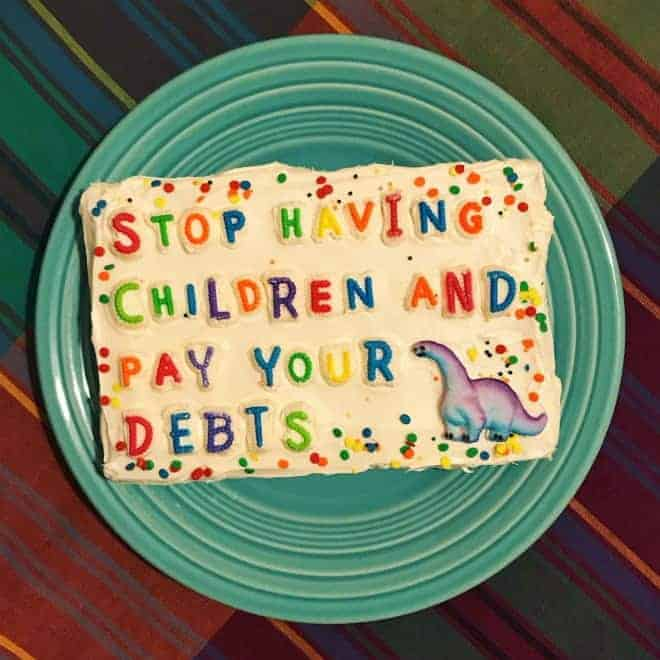 taart met belediging
