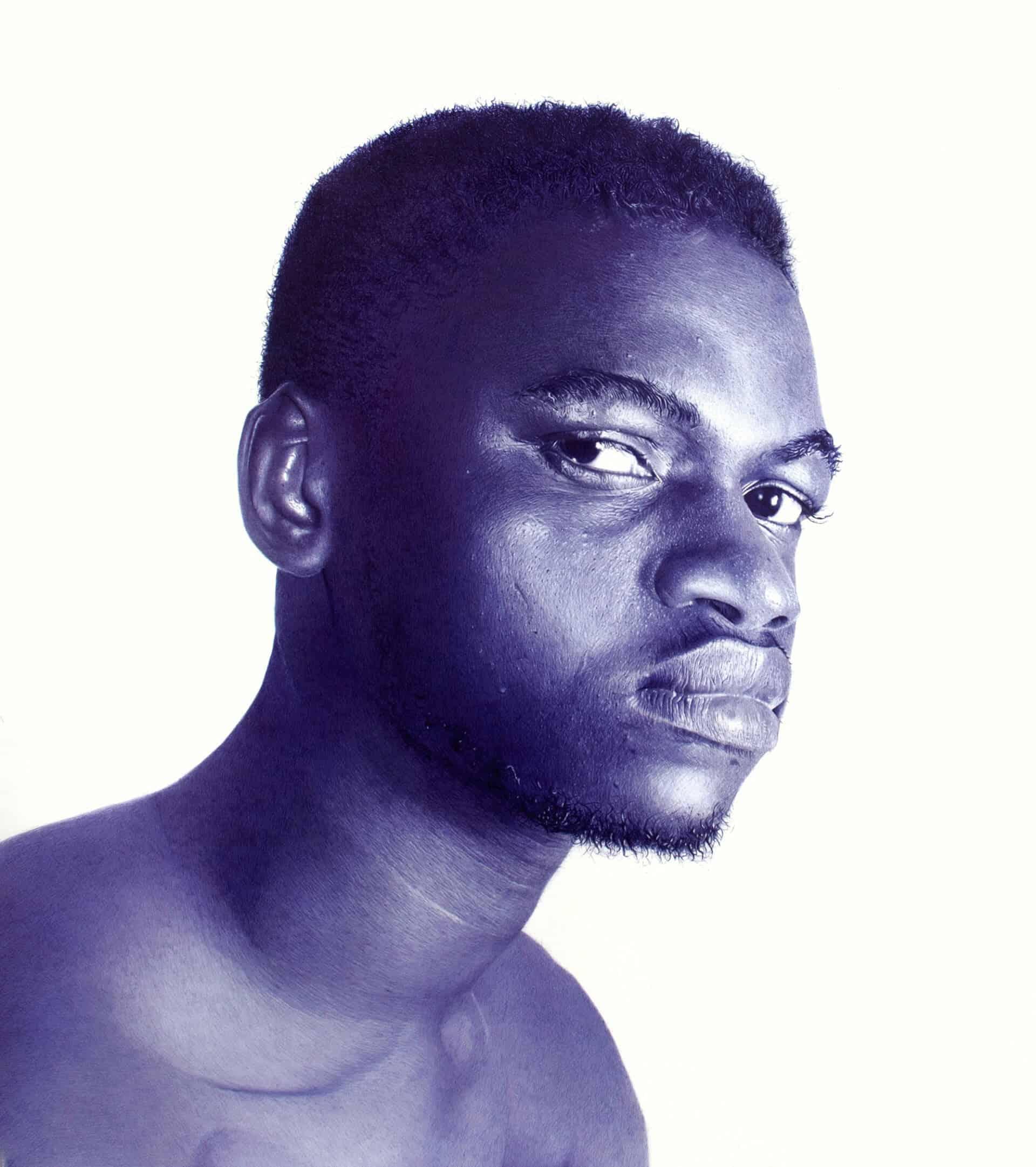 Portret in balpen door Patrick Onyekwere