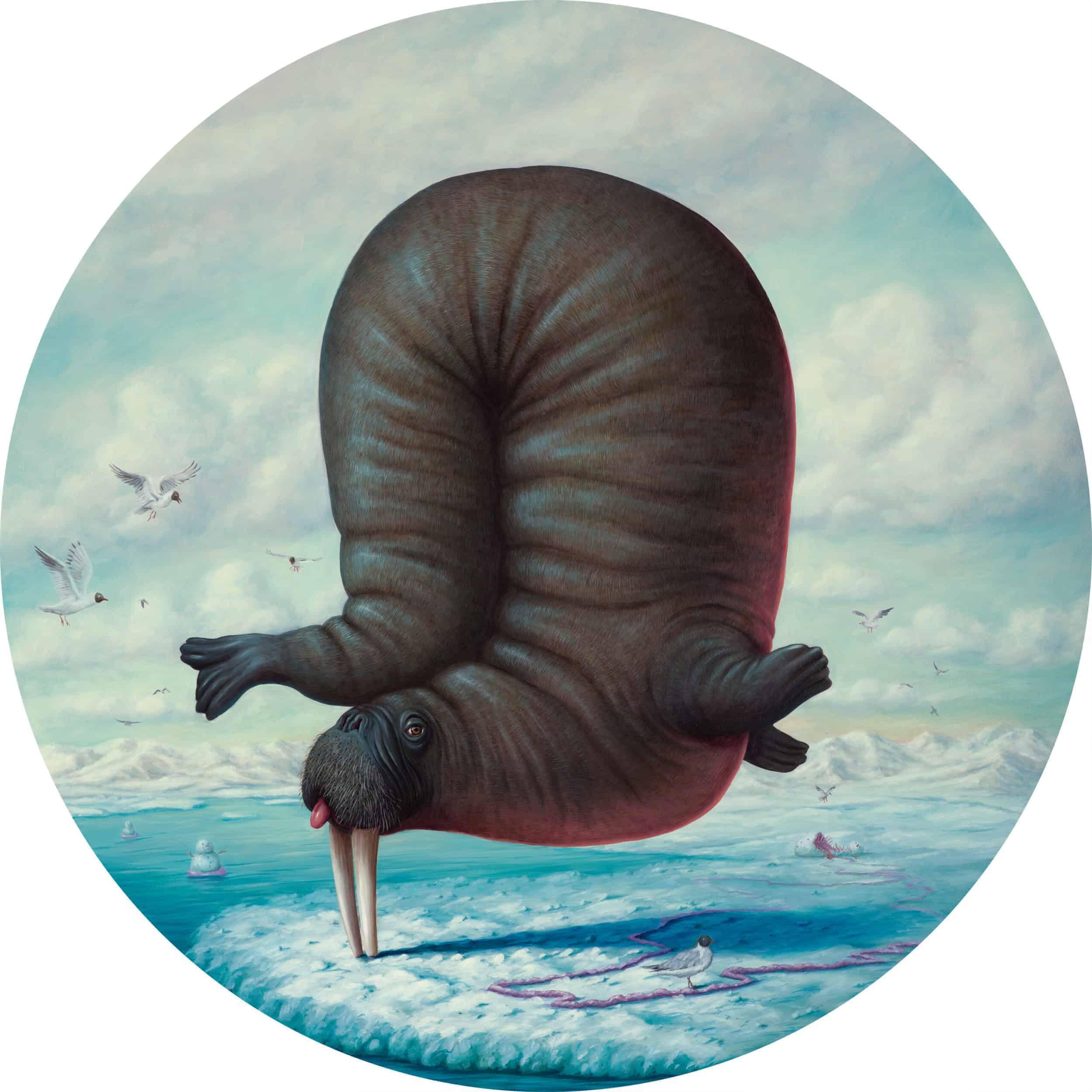 Dieren in absurde poses door Bruno Pontiroli