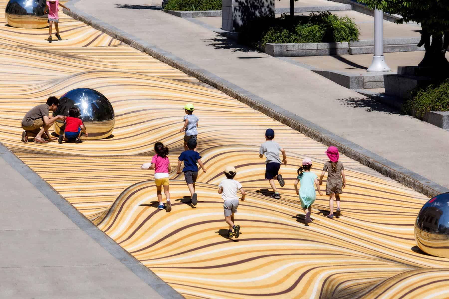 Moving Dunes, een optische illusie in de straten van Montreal