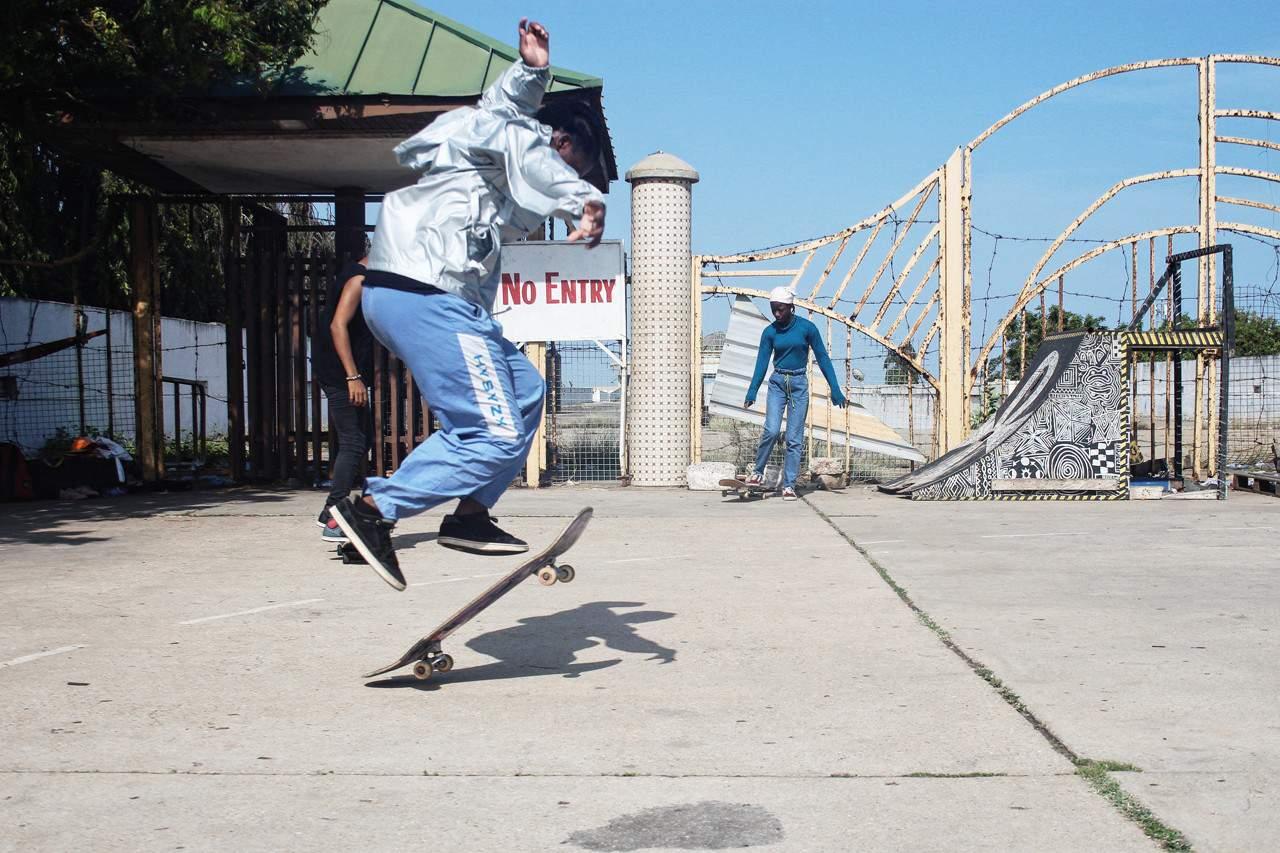 Off-White en Daily Paper bouwen skatepark in Ghana