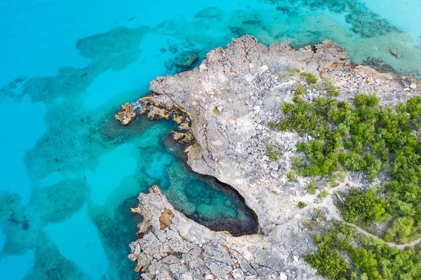 Prachtig blauw op St. Maarten