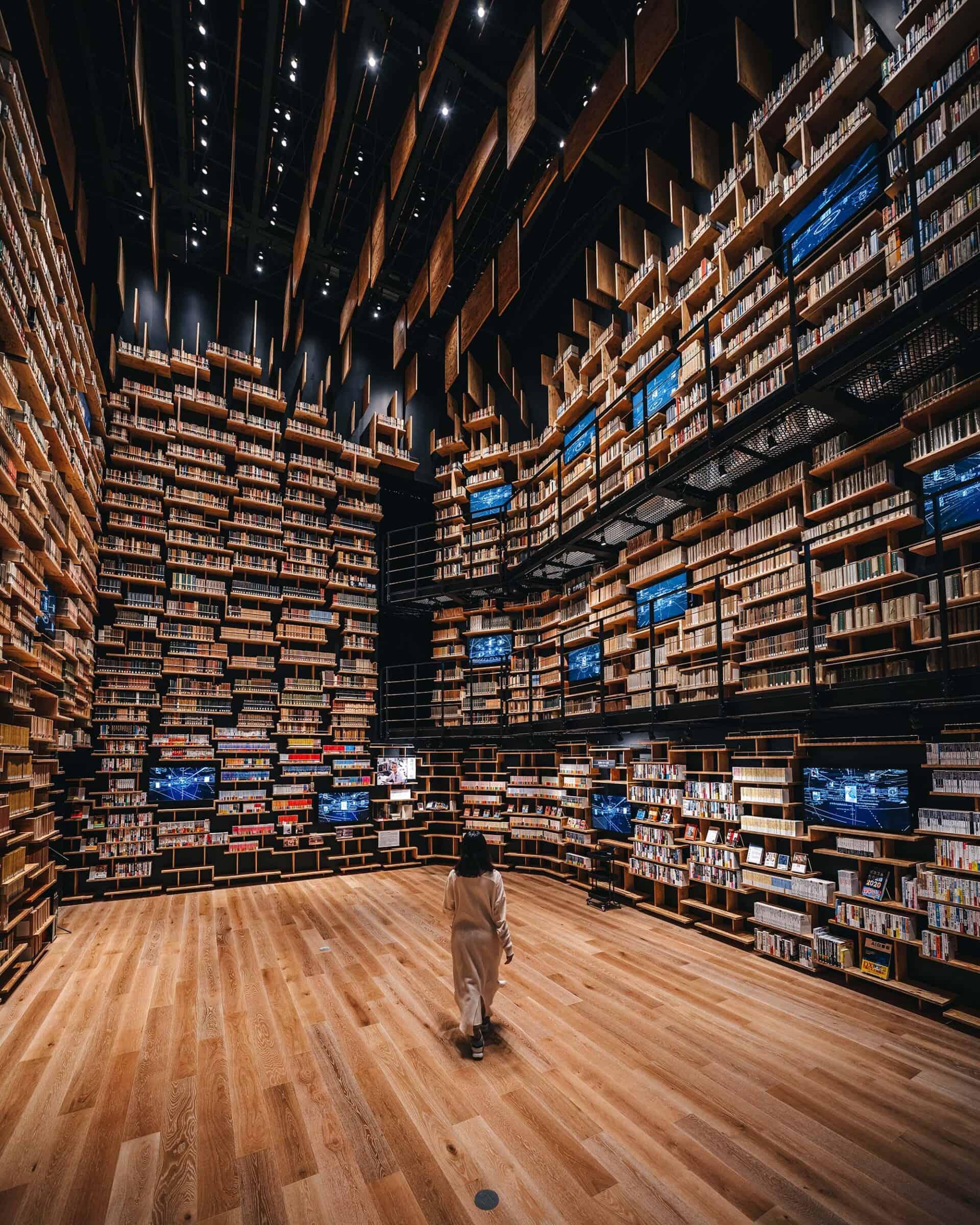 Spectaculaire bibliotheek in het Kadokawa Culture Museum