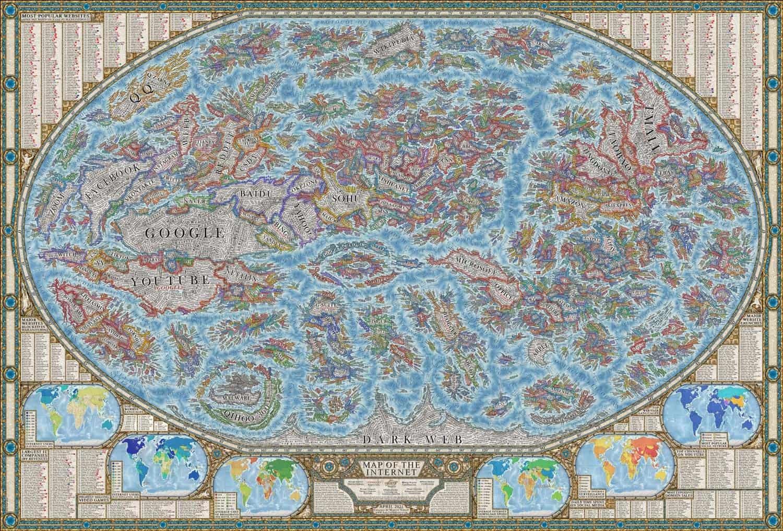 kaart van het internet
