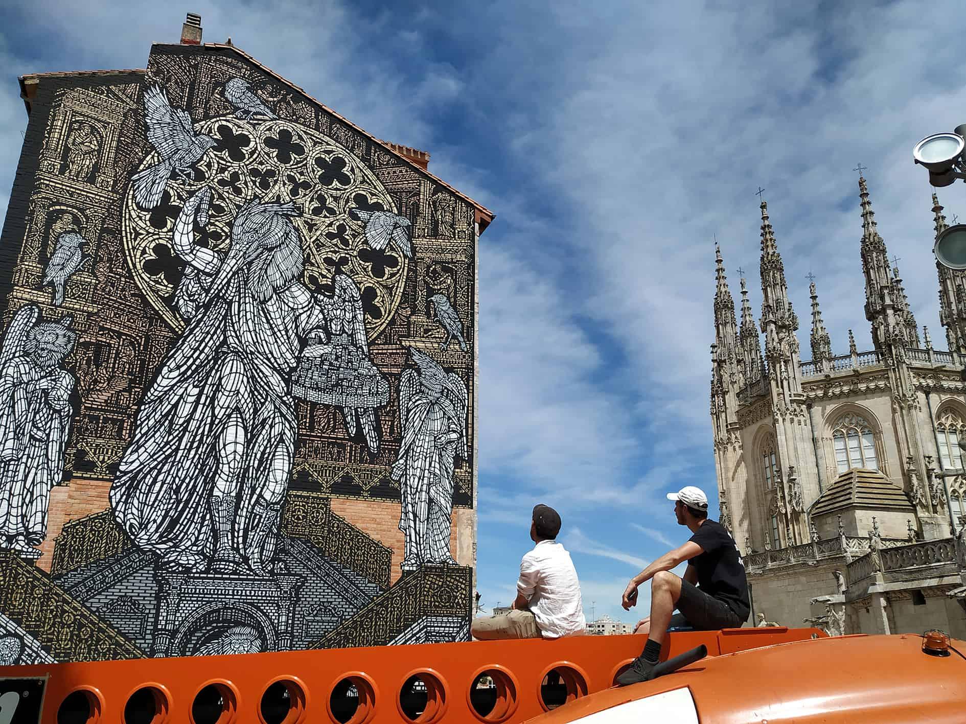 Stencilkunst van MonkeyBird in Burgos