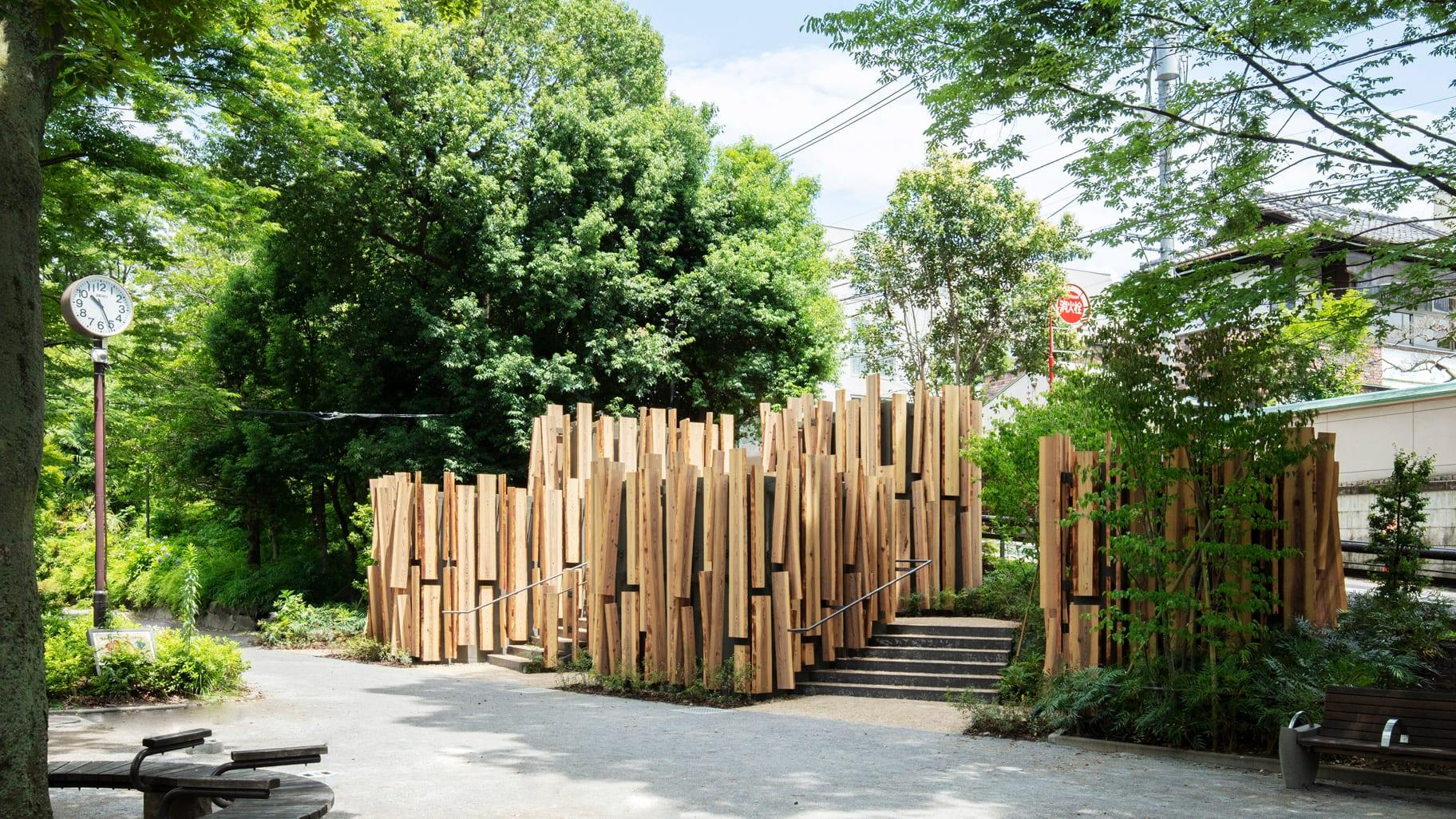 Openbaar toilet ontworpen door Kengo Kuma