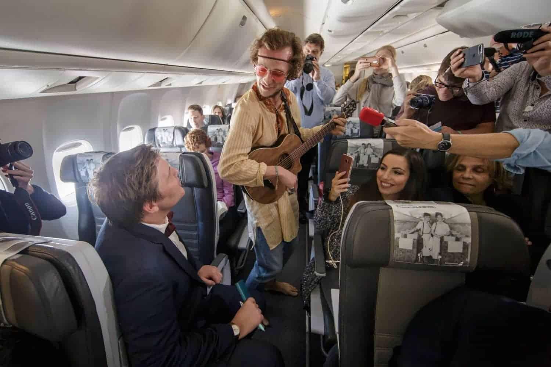 theater in het vliegtuig
