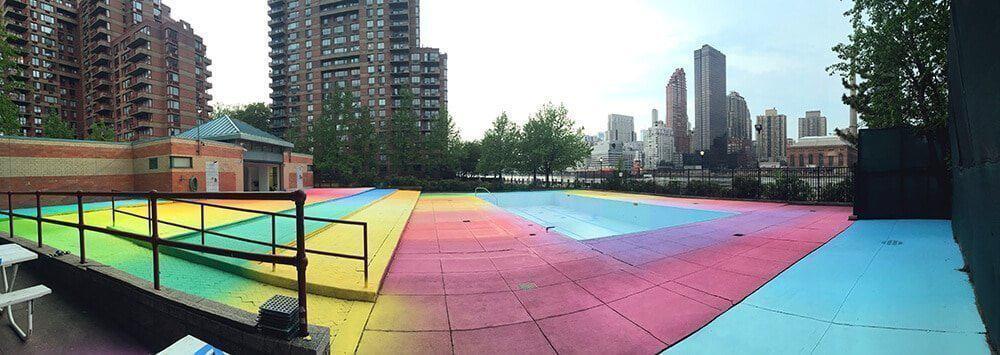 zwembad in New York