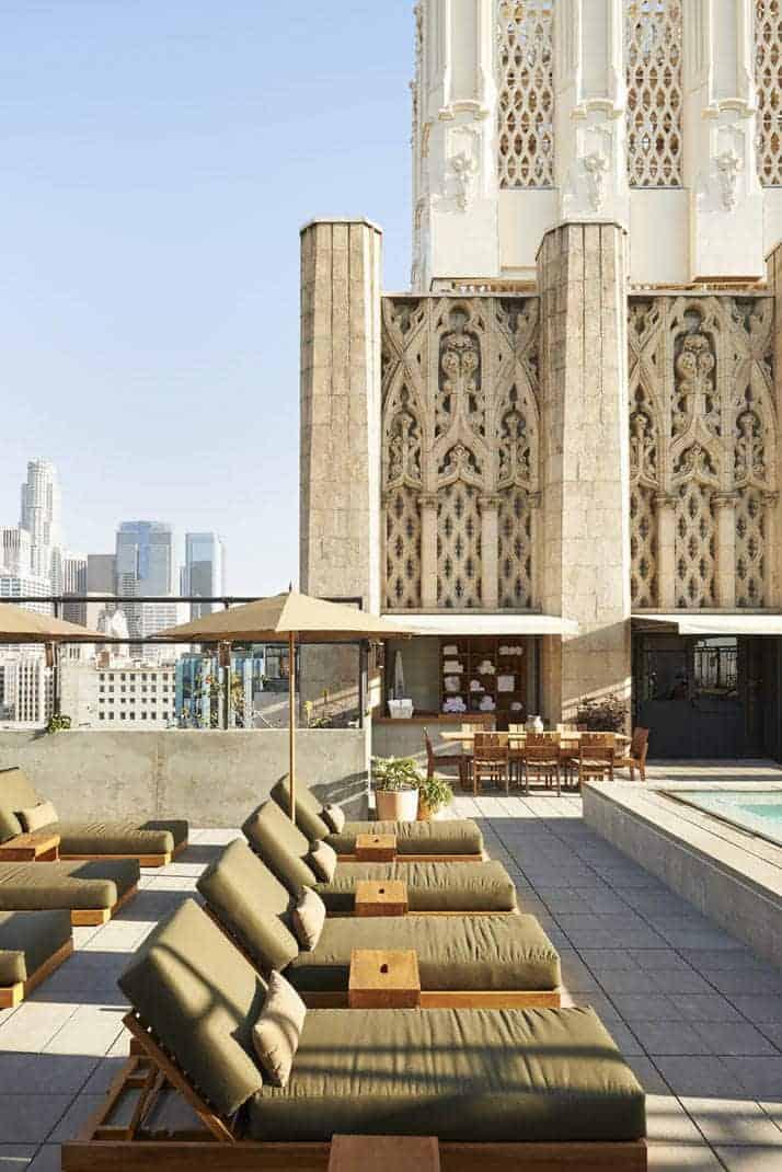 Het Ace Hotel in het Downtown Los Angeles
