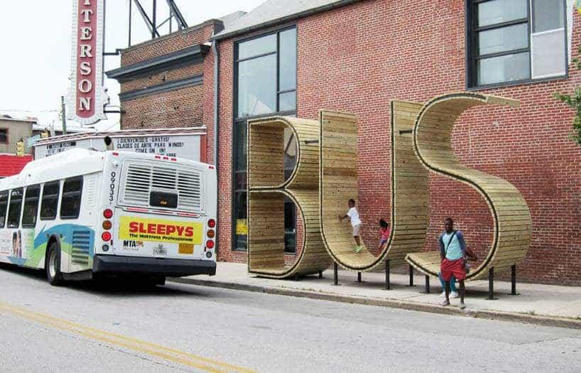 Bushalte in Baltimore