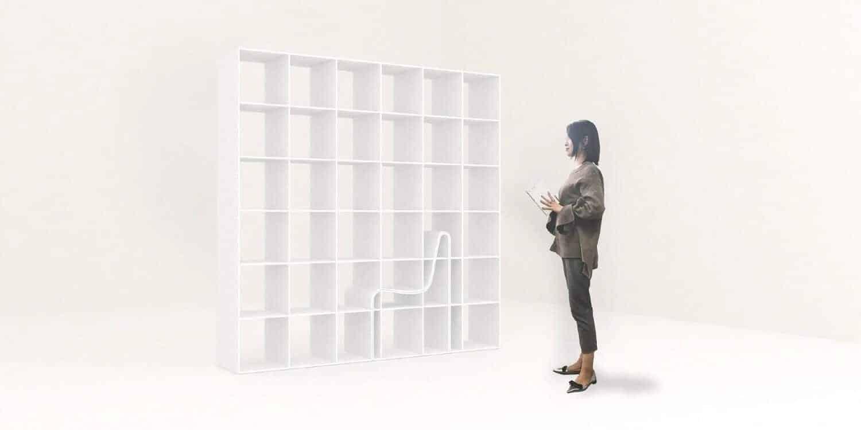boekenkast met stoel