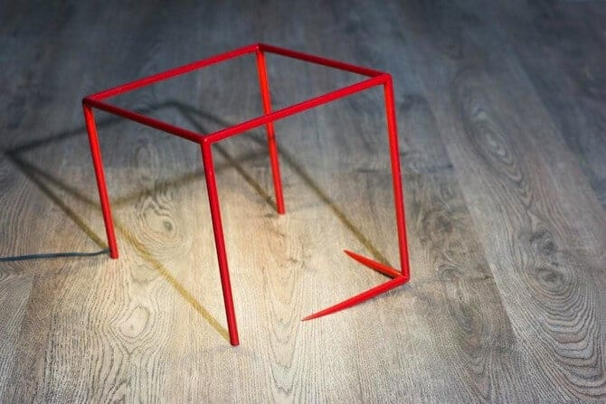 lamp met optische illusie
