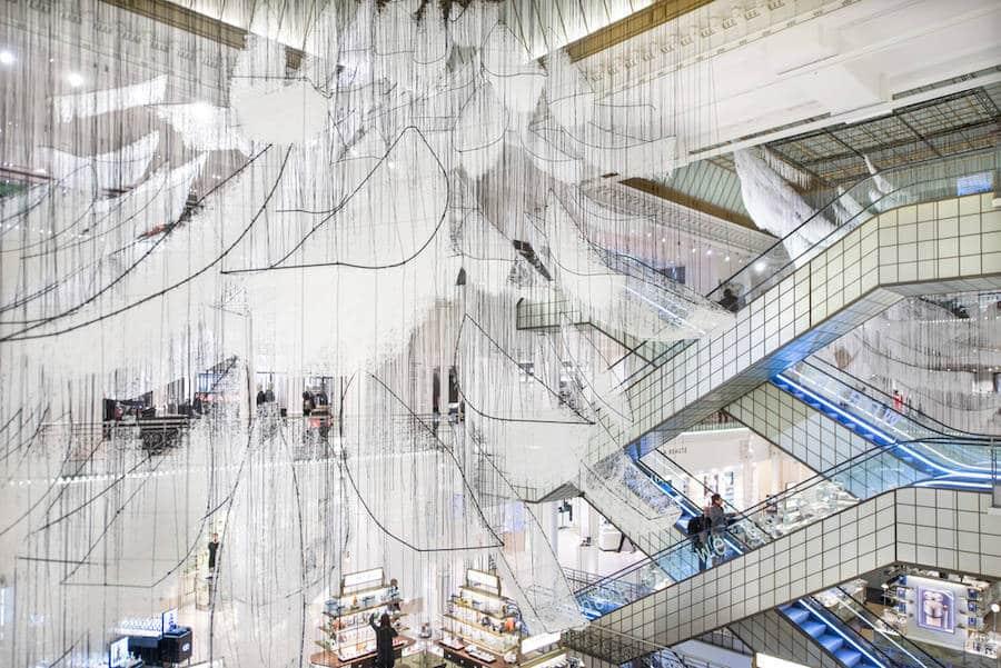 kunst in Frans warenhuis