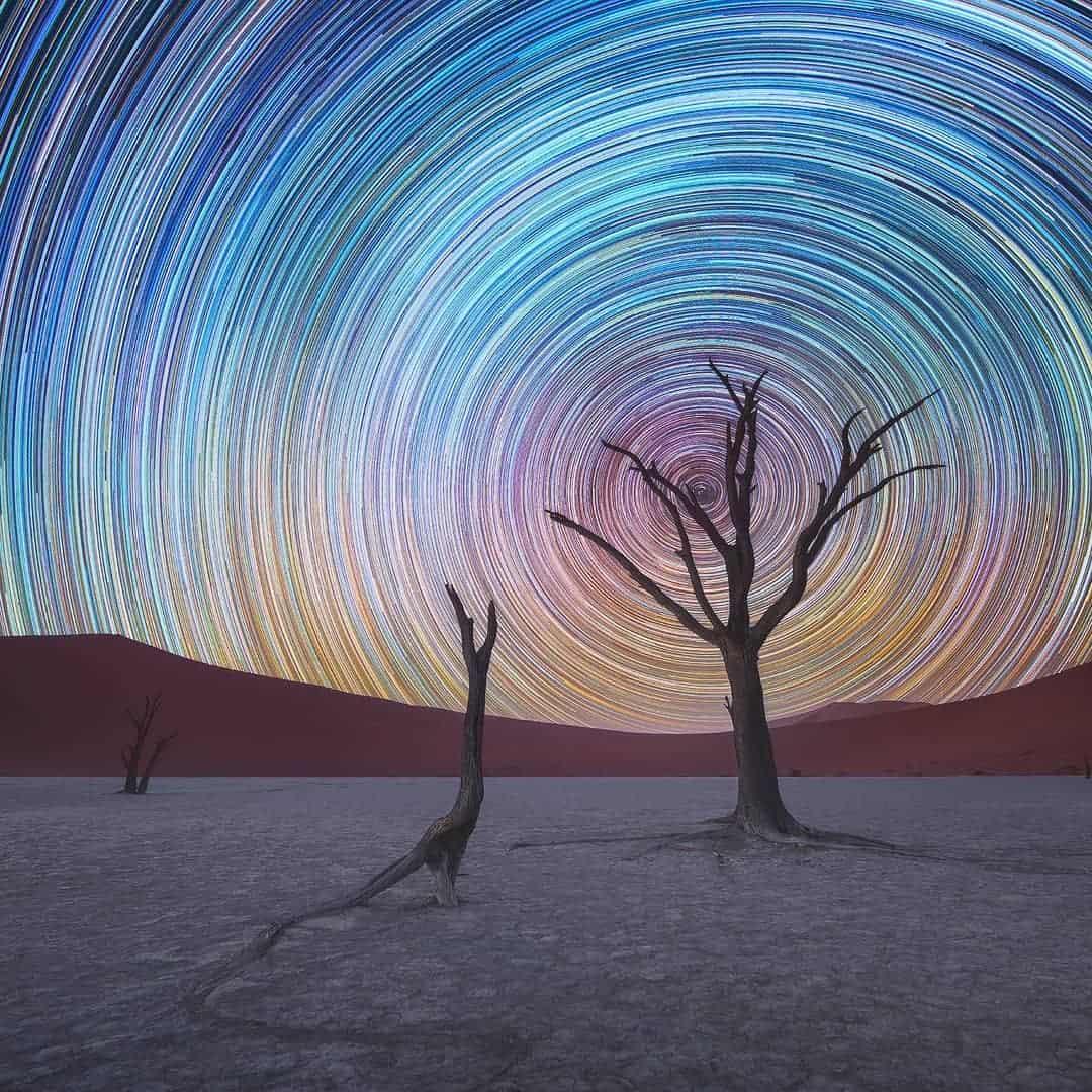 sterren boven de Namibwoestijn