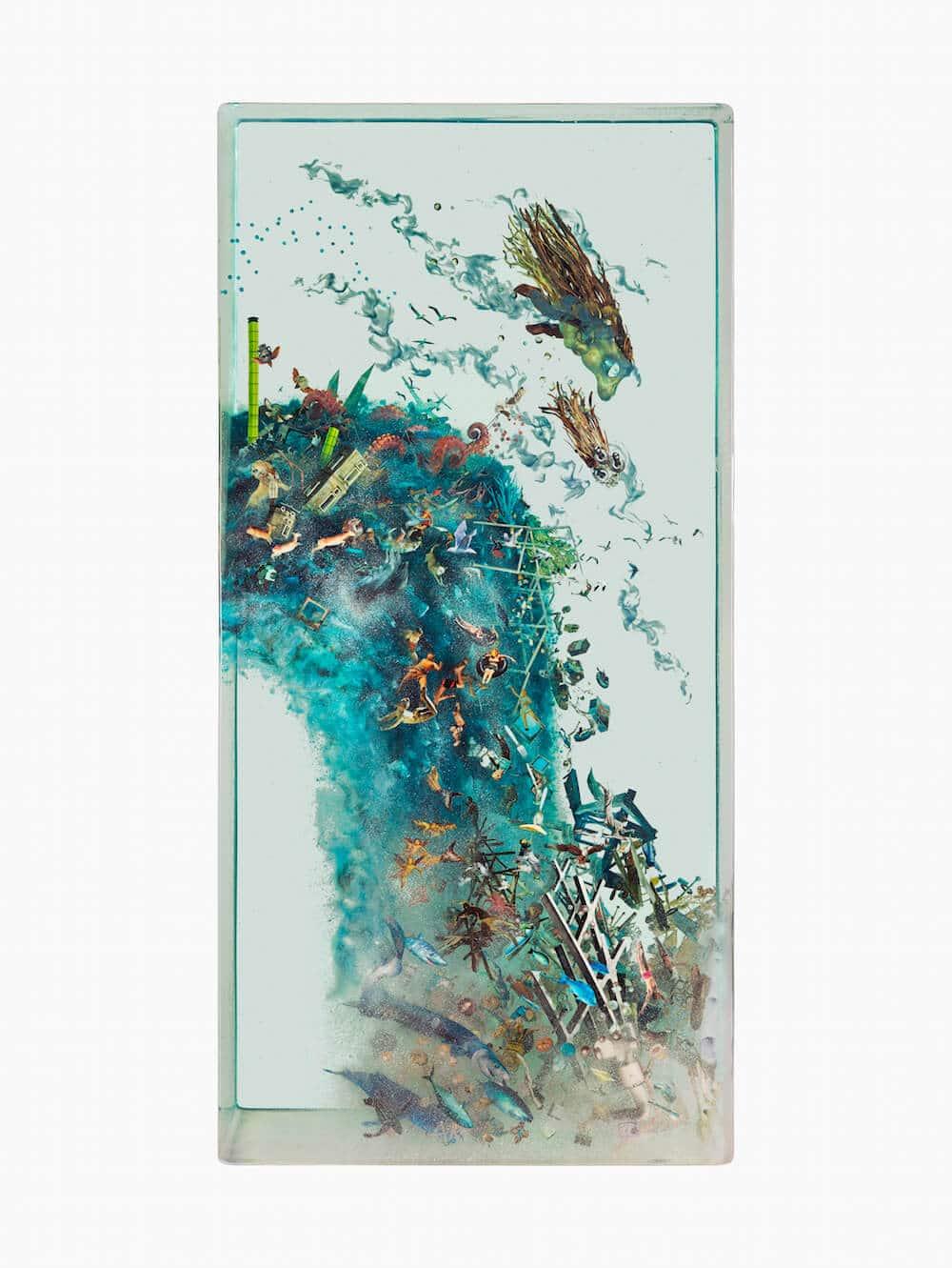 bizarre wereld in glas