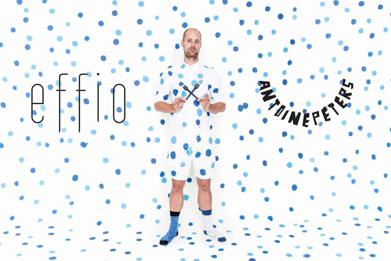 Antoine Peters ontwerpt sokken voor Effio