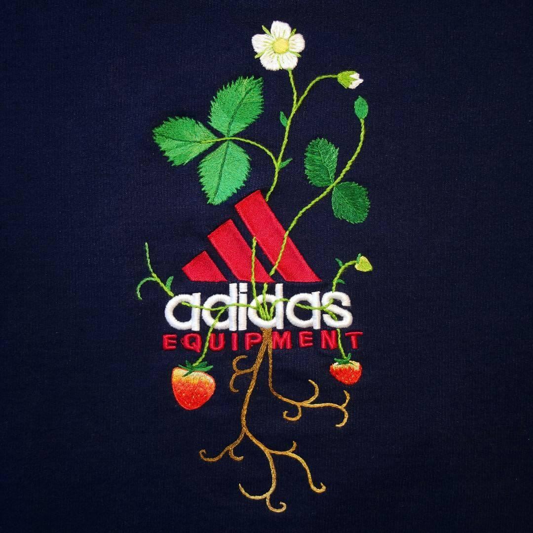 logo met borduursel