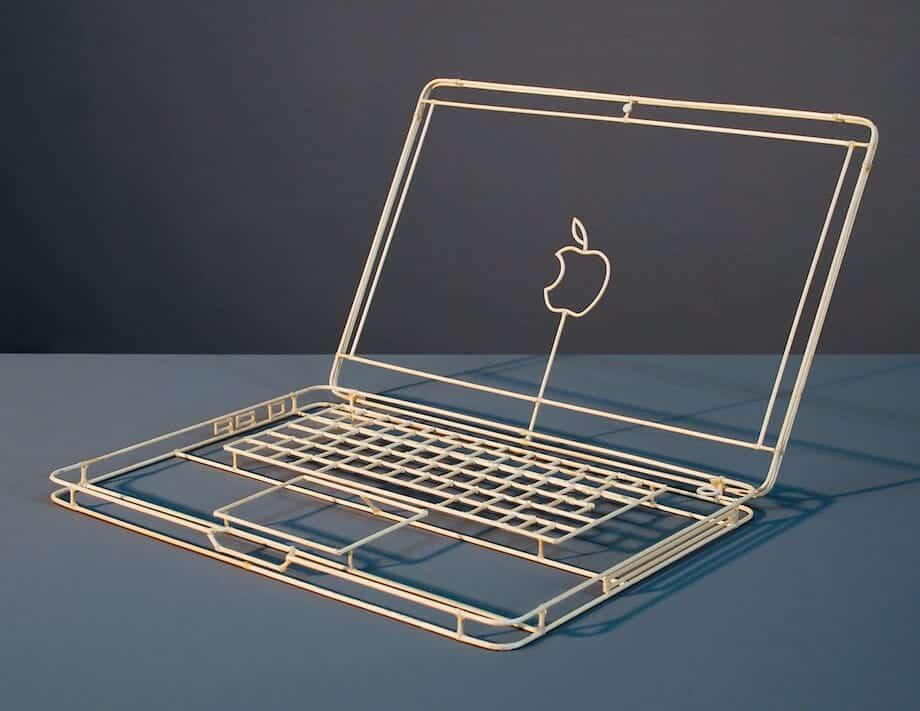 macbook van hout