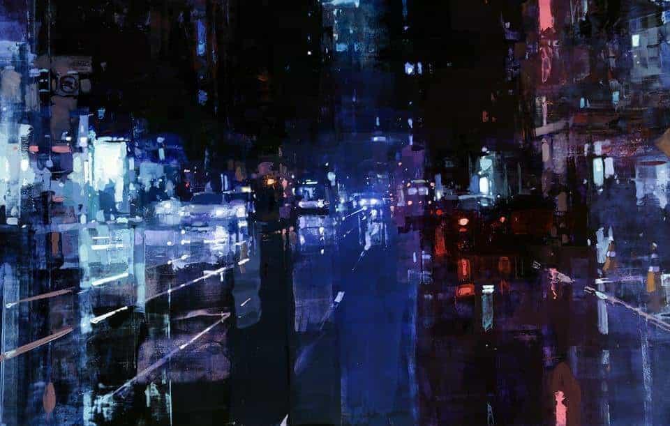 New York in olieverf