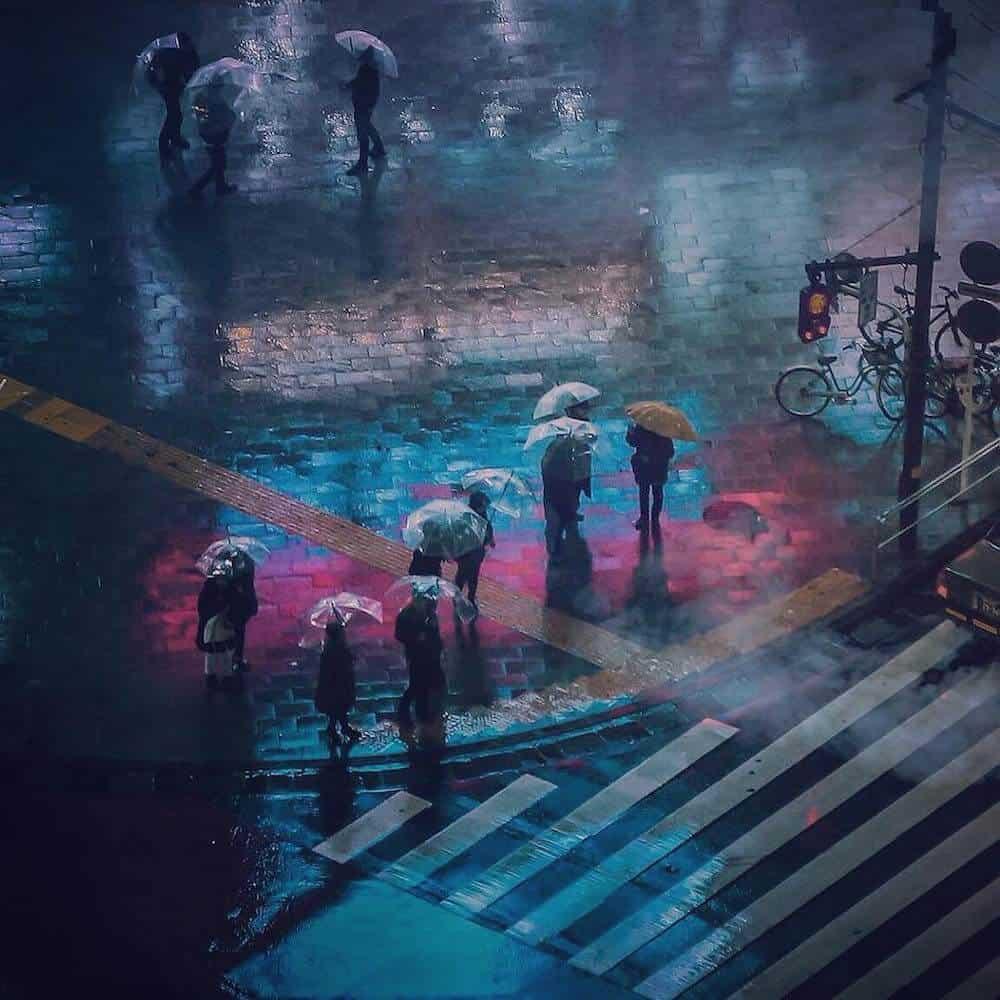neonlicht in Tokio