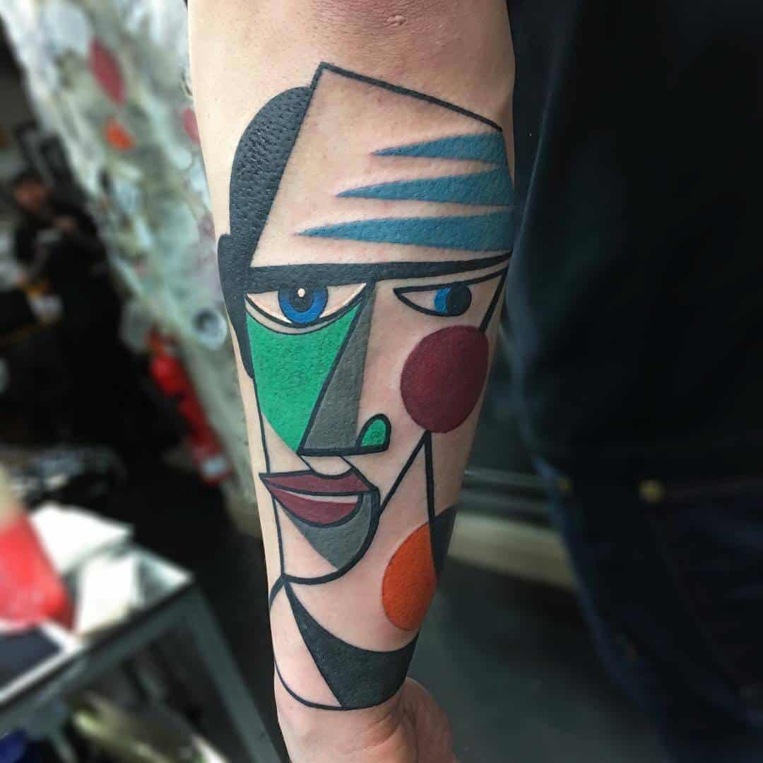 kubistische tatoeage