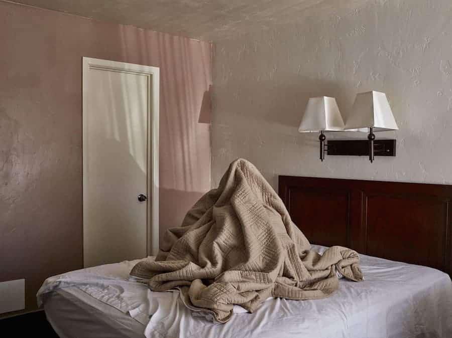 berg op het bed