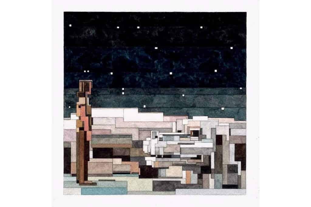 8-bit schilderij van adam lister