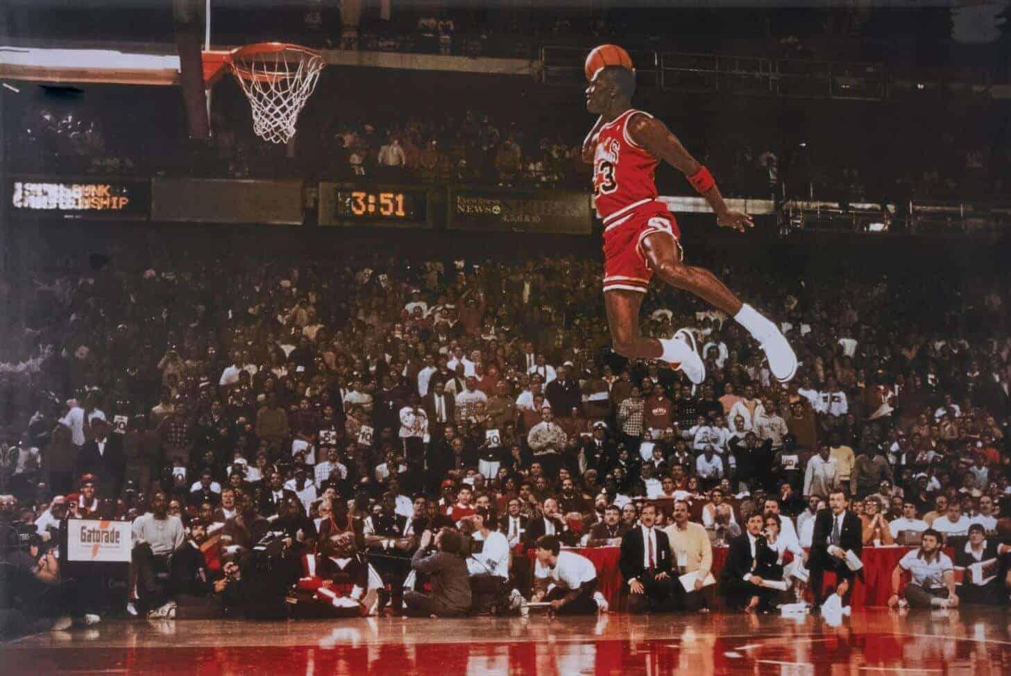 beroemde foto van Michael Jordan