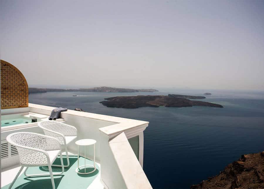 Hotel op Santorini