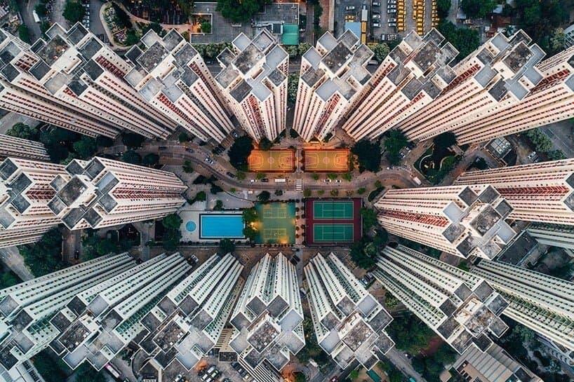 Hong Kog vanuit de lucht