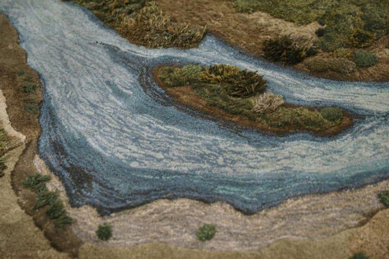 tapijt van kunstenaar Alexandra Kehayoglou