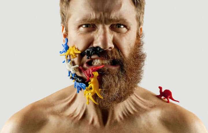 halve baard