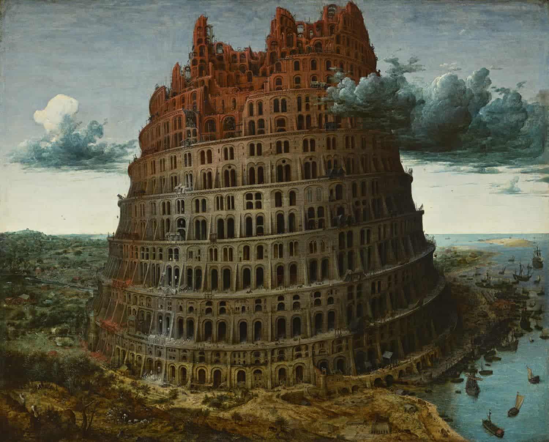 Pieter Bruegel, 'De toren van Babel', circa 1568, Museum Boijmans Van Beuningen, Rotterdam. Verworven met de verzameling van D.G. van Beuningen
