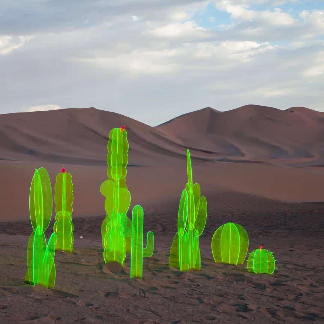 groene sculpturen
