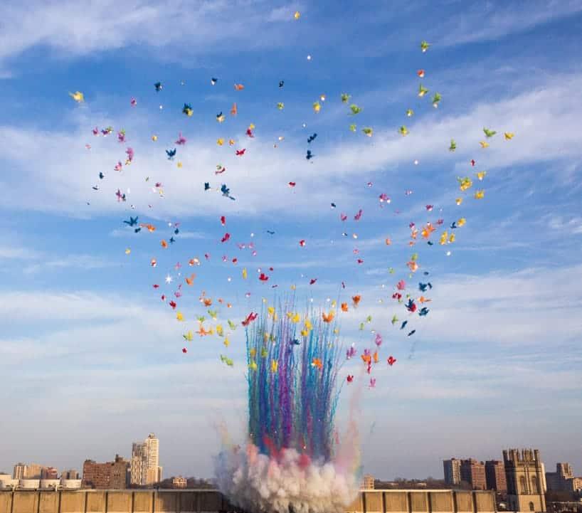 kleurrijke explosie