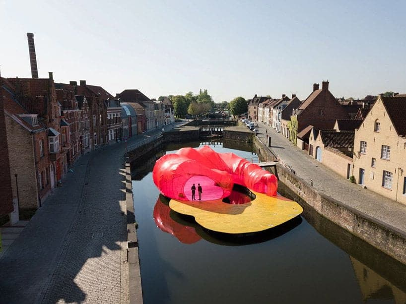 Kunstwerk op de Triënnale Brugge