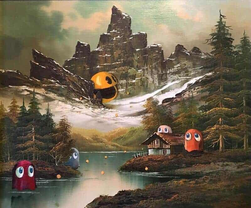 vernieuwde versie van oud schilderij