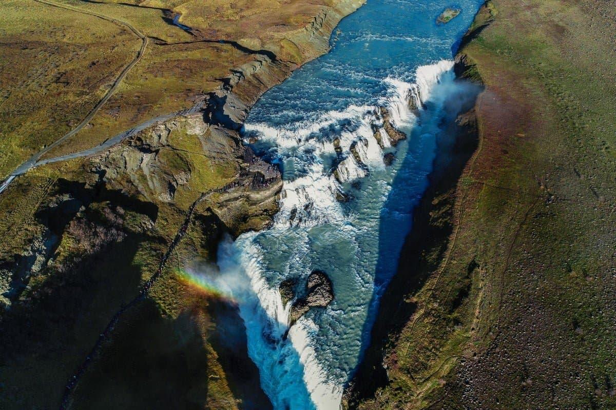 The Most Famous Waterfall in Iceland Gullfoss door Vaidas.