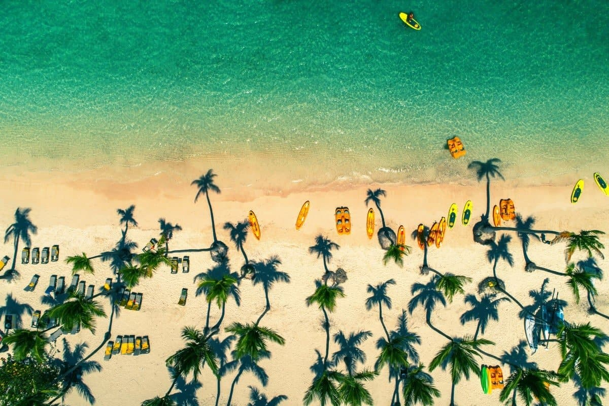 Tropical Island Beach, Dominican Republic by Valentin Valkov.