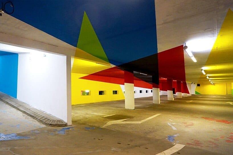 kunst in parkeergarage