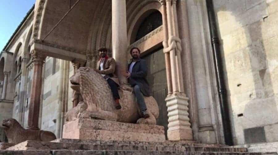 Aziz en Eric in Rome