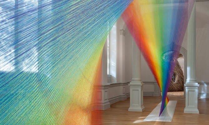 regenboog van draden