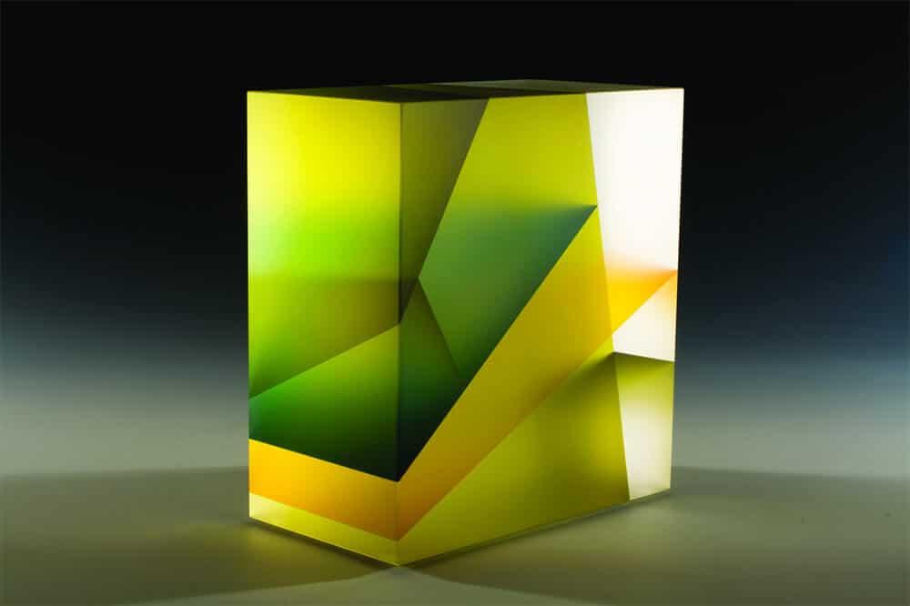 glazen sculptuur van Jiyong Lee