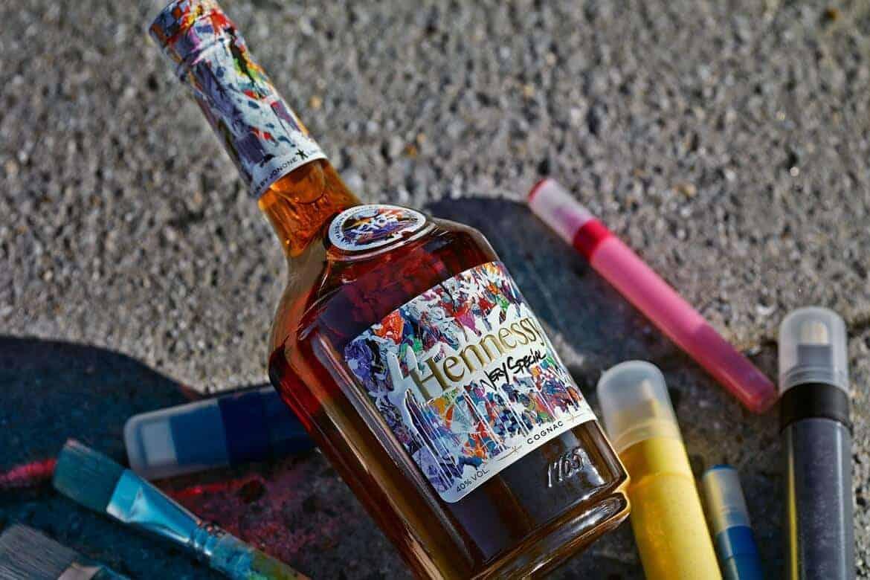 kunstzinnige fles cognac