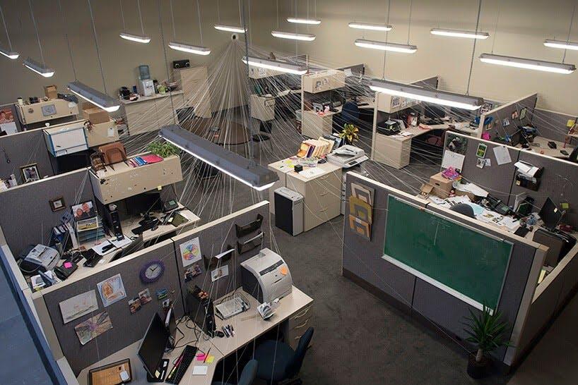 verdwijnend kantoor