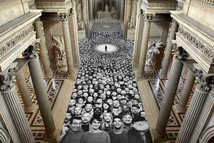 JR in het Panthéon