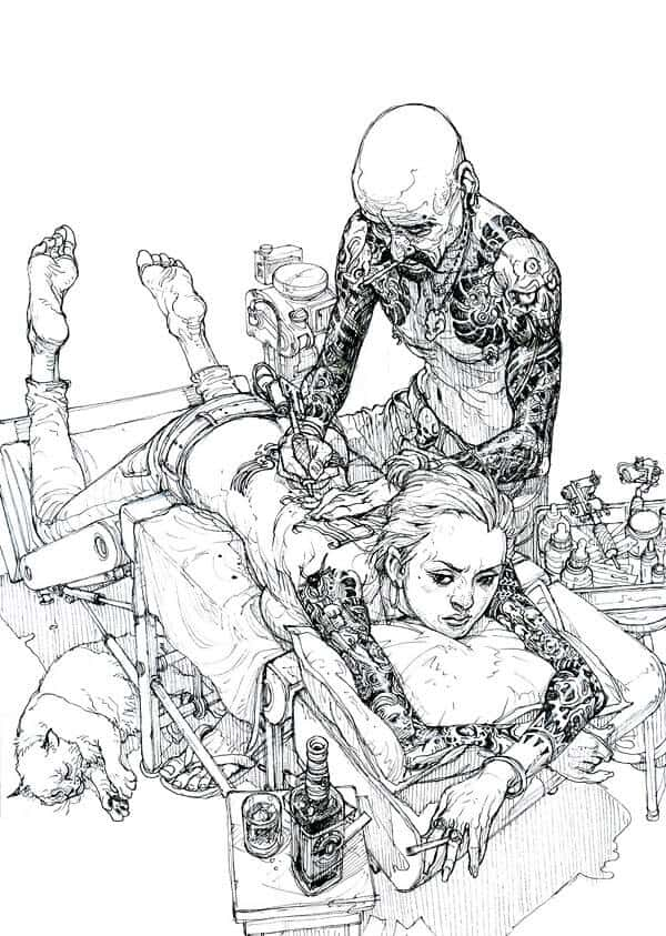 tekening van Kim Jung Gi