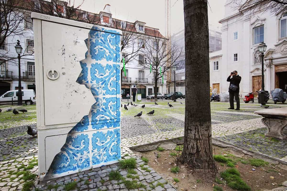 Diogo Machado mixt straatkunst met Portugese traditie