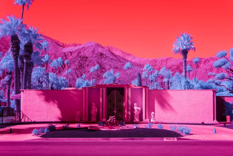 Palm Springs in infrarood